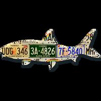 Hawaii Bonefish License Plate Art