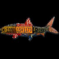 Florida Antique Bonefish License Plate Art