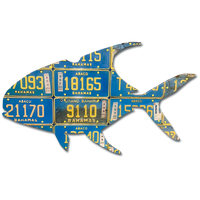 Bahamas Permit License Plate Art