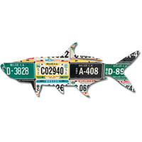 Belize Tarpon License Plate Art