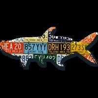 Mexico Tarpon License Plate Art