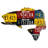 Indiana Largemouth Bass License Plate Art