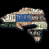Missouri Largemouth Bass License Plate Art