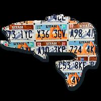 Utah Largemouth Bass License Plate Art