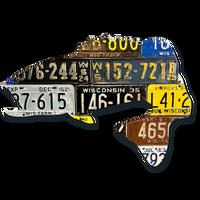Wisconsin Largemouth Bass License Plate Art