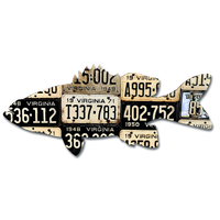 Virginia Smallmouth Bass License Plate Art