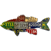Michigan Smallmouth Bass License Plate Art