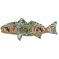 Florida Redfish License Plate Art