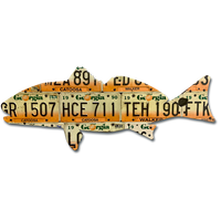 Georgia Redfish License Plate Art