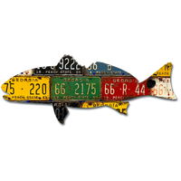 Georgia Vintage Redfish License Plate Art