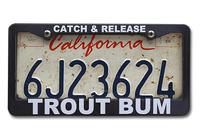 The Fly Shop's License Plate Holders - Catch & Release/Trout Bum