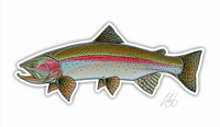 Casey Underwood Fish Decal - Rainbow Trout