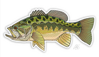 Casey Underwood Fish Decal - Largemouth Bass