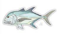 Casey Underwood Fish Decal - Giant Trevally