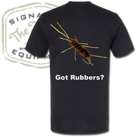 """The Fly Shop's """"Got Rubbers?"""" T-Shirt - Back"""