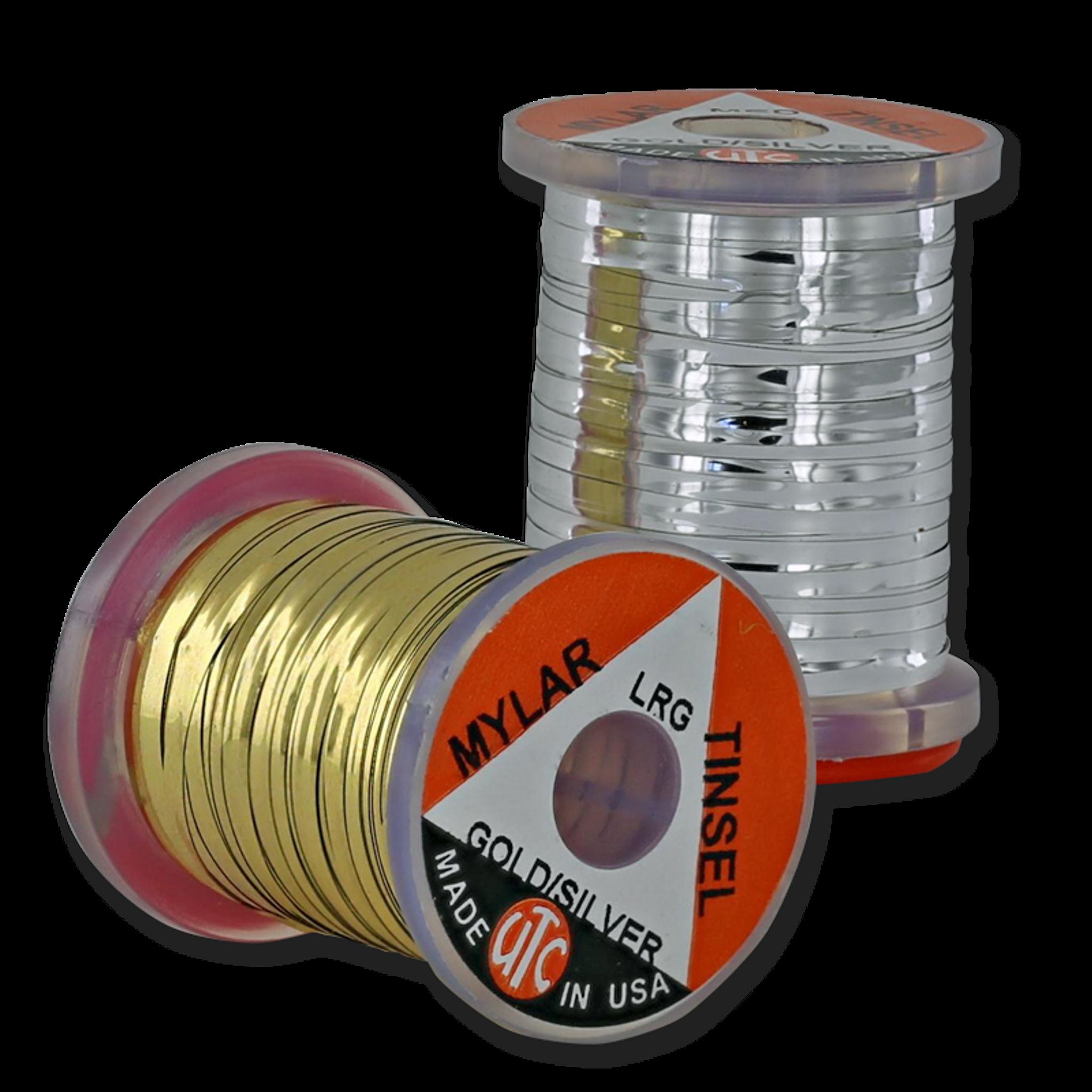Fly Fishing 12x Spool of Flat Mylar Tinsel GOLD /& SILVER Fly Tying