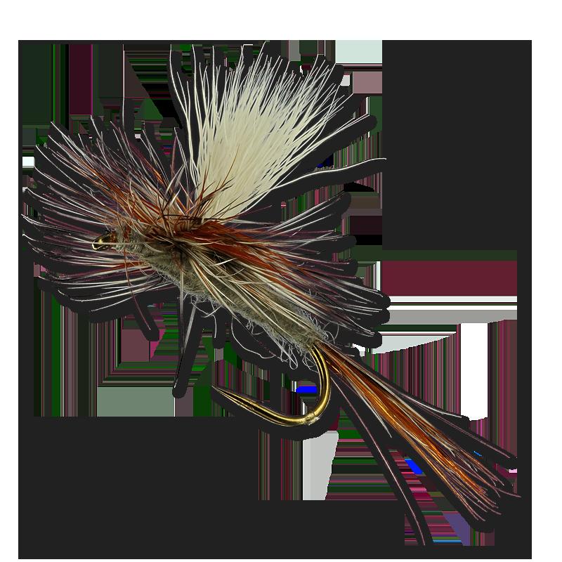 Adam/'s Parachute size 10 dry flies 1 Dozen 12 D31