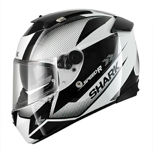 Helm Shark Speed-R Tanker zwart-wit (HE4621E WKS)