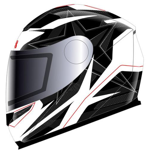 Helm iXS 135 Kid 2.0 wit-zwart-rood (X14806-132)