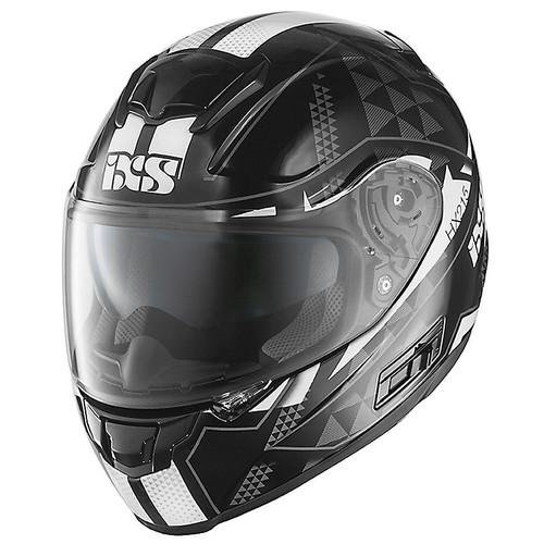 Helm iXS HX 215 Triangle zwart-wit-zilver (X14067-319)