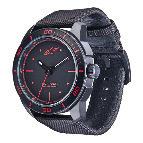 Horloge Alpinestars Tech Watch 3H Black-Black Red (1017-96041)