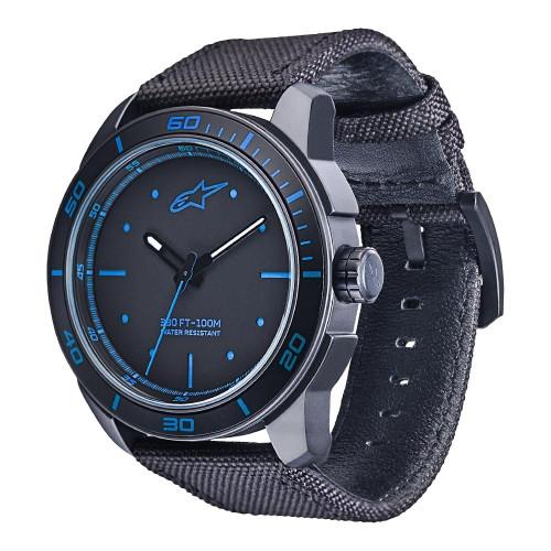 Horloge Alpinestars Tech Watch 3H Black Nylon Black Strap (1017-96037)
