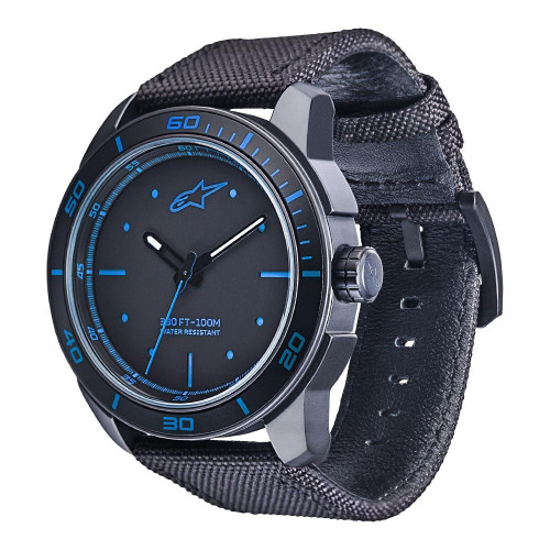 Horloge Alpinestars Tech Watch 3H Black Nylon Black Strap (1017-96037)