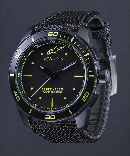 Horloge Tech Watch 3H Black Black Nylon Strap (1017-96045)