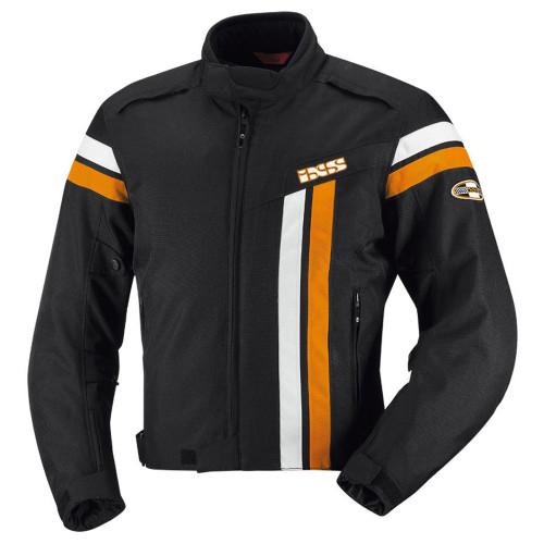 Jas iXS Dutton zwart-wit-oranje (X56021-316)