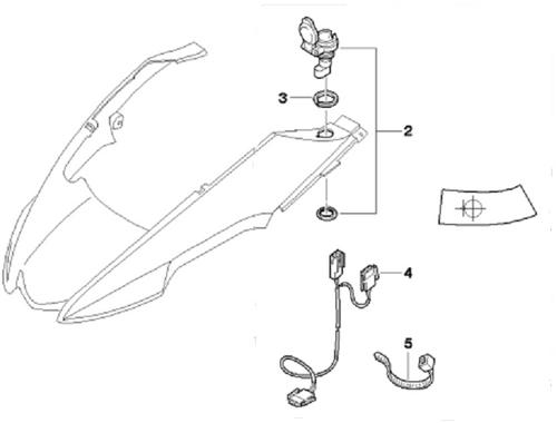 Na-inbouwset Stopcontact BMW R 1200 GS (Adventure), 71607701460