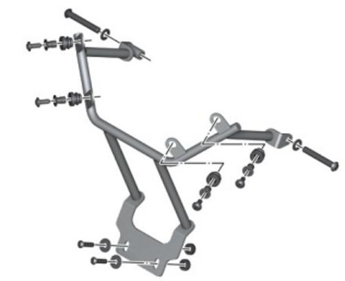 BMW Set aanbouwdelen Windscherm Sport BMW G 650 X Country, 71607705971