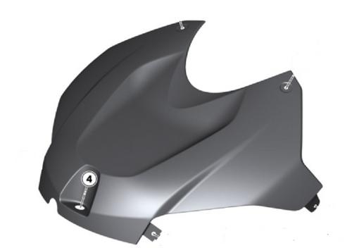 HP Carbon afdekking airbox