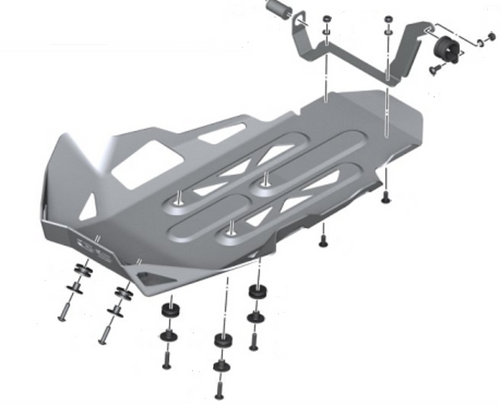 BMW Enduro aluminium kleur motorbescherming