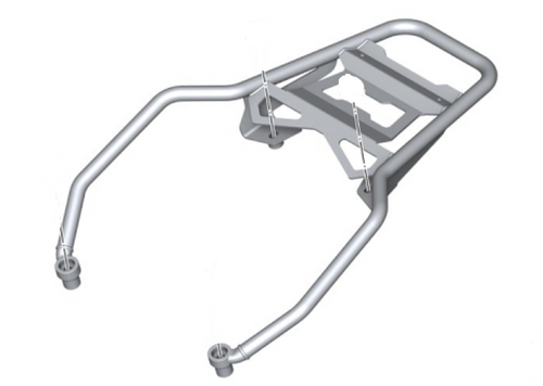 BMW Bagagerek voor topkoffer aluminium