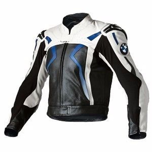 Jack BMW Leather Racking Jacket Blauw/Zwart/Wit