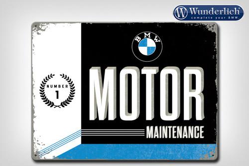 Wunderlich Metalen bord »BMW Motor Maintanance«