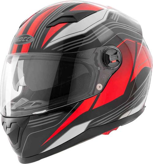 ROCC 322 Integraal helm zwart/rood