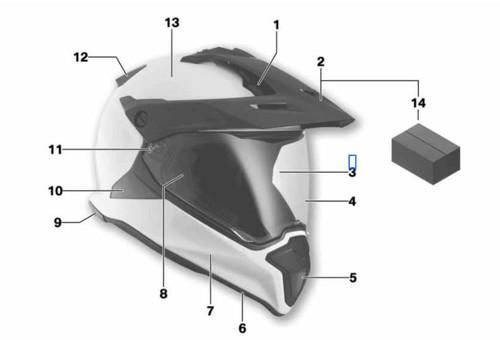 BMW Vizier GS Helm (nr 3)