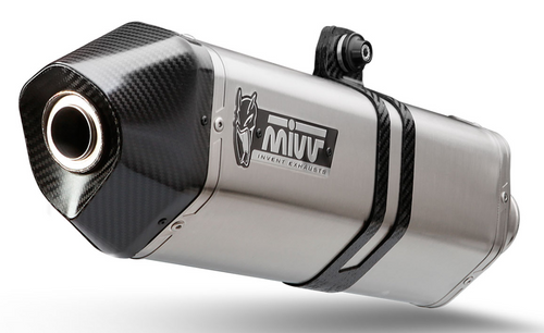 MIVV Speed Edge-uitlaatdemper RVS / Carbon eindkap BMW C 600 Sport