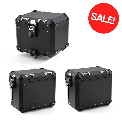 Aluminium Travel pack: extra voordelige 3-delige kofferset Zwart