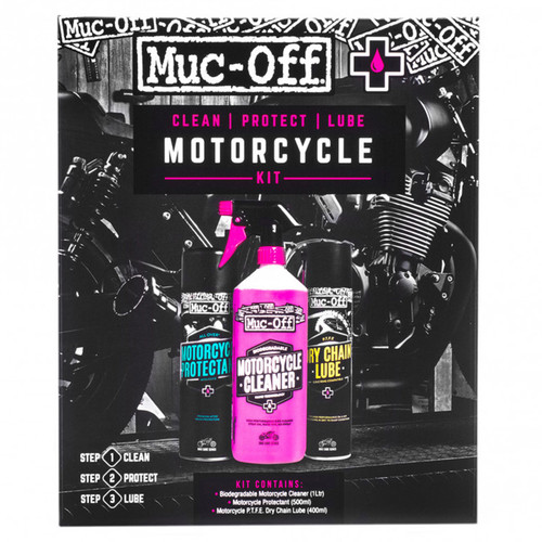 Muc-Off reinigingsset motorcycle clean, protect & lube kit, 672