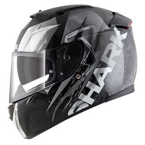 Helm Shark Speed-R Series 2 Tizzy zwart-wit (HE4755E KWW)