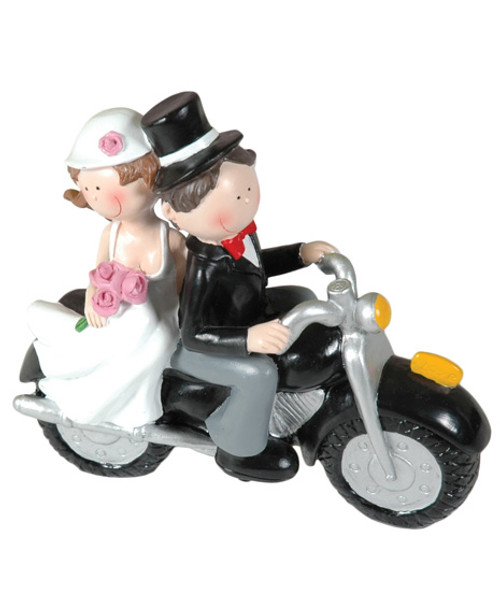 Beeldje Booster Wedding motorbike
