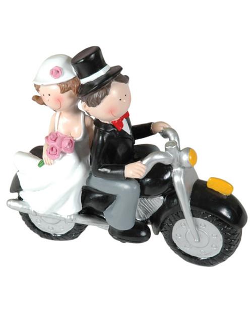 Beeldje Booster Wedding motorbike