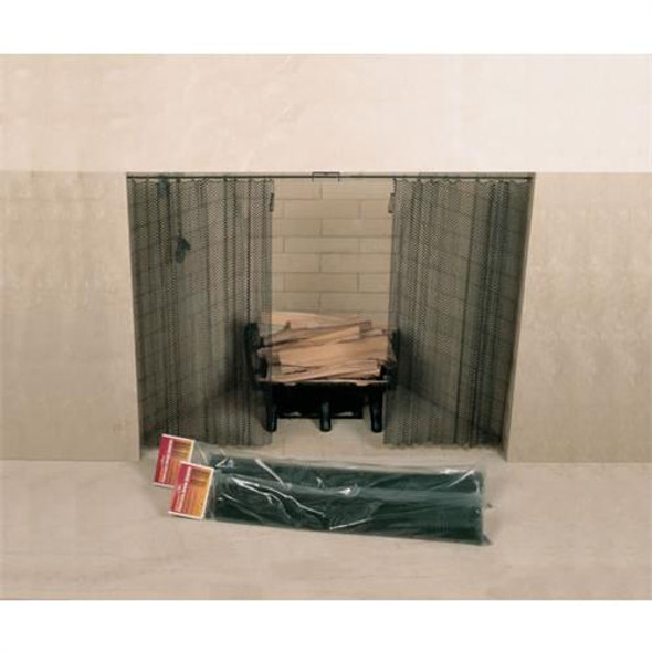 "Woodfield Hanging Fireplace Spark Screen - 61076 - 48"" x 20"""