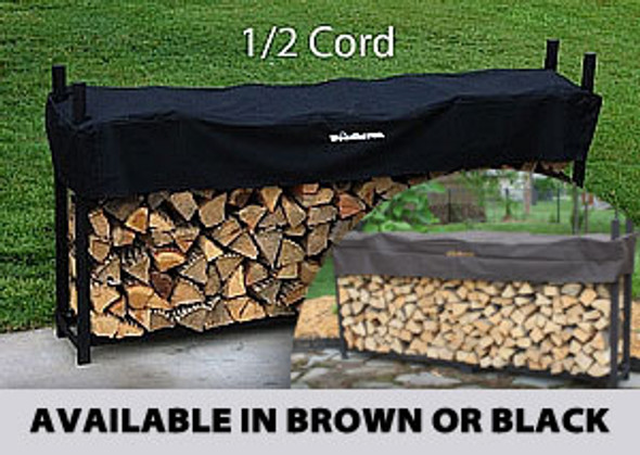 Woodhaven 1/2 Cord Firewood Rack with Cover