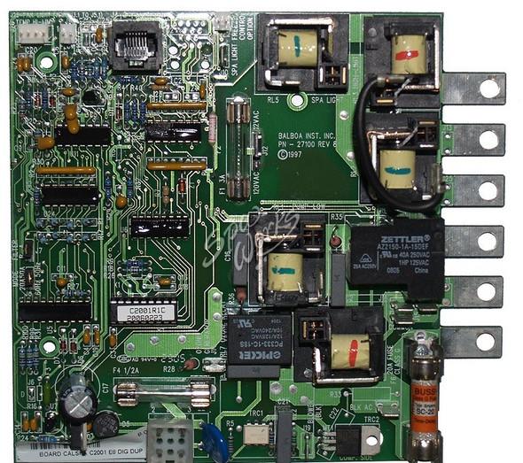CAL SPAS C2001R1C PRINTED CIRCUIT BOARD - CALELE09100070