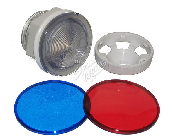 CAL SPA LIGHT ASSEMBLY WITH RED AND BLUE LENS - CALLIT16000150
