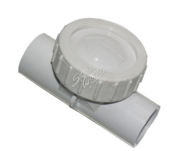 CAL SPA 1 INCH FLAPPER PVC WATER CHECK VALVE - CALPLU21100130