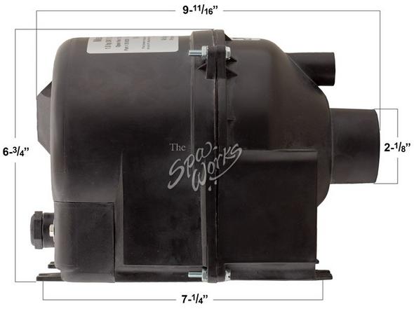 CALDERA SPA AIR BLOWER, 1 HP, 240 VOLT, 2.4 AMPS WITH AMP PLUG - WAT74070